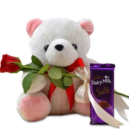 Rose, Chocolate and Teddy