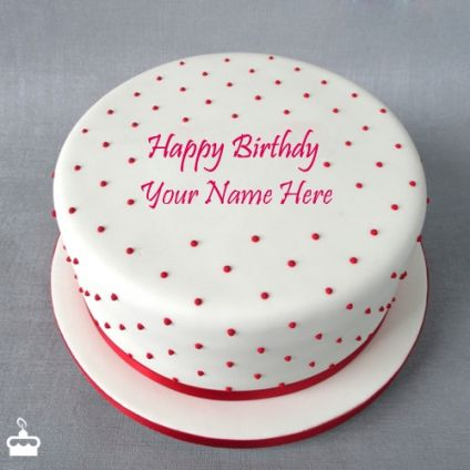 Decorated Round Fondant Cake