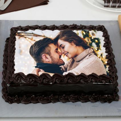 Chocolate Truffle Photo Cake