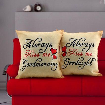 Couple printed Cushion