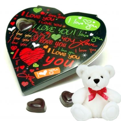 Handmade Chocolates With Soft Toy