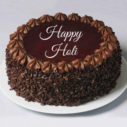 Holi chocolate cake