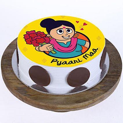 Pyaari Maa Pineapple Photo Cake