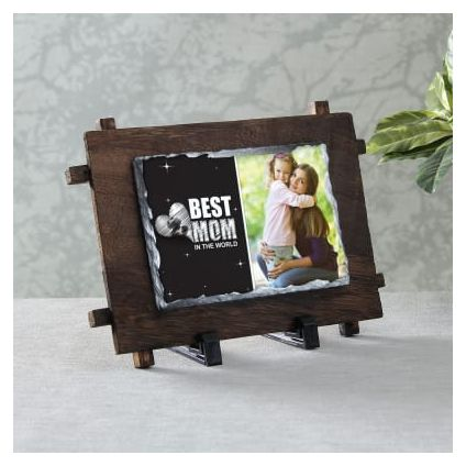 Best Mom Personalized Stone Photo Frame