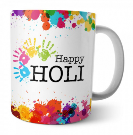 Holi Special White Mug