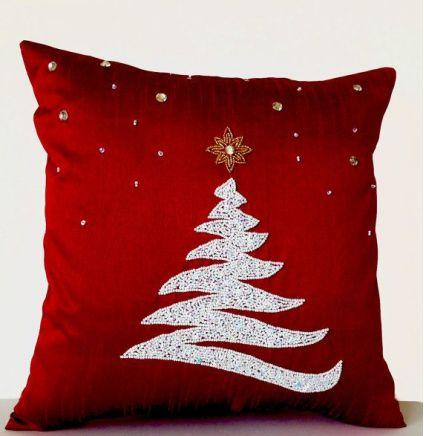 Red Christmas cushion