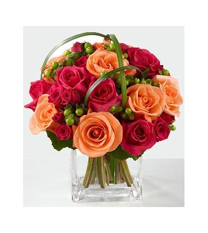 10 Dark pink rose, 10 peach rose, 10 Dark spray rose
