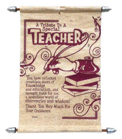 Teachers Day Scroll Card