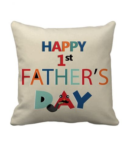 Gifts For Dad From Son printed Cushion(12 Inch X 12 Inch,Multicolor) with Inner Filler