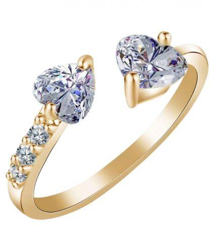 Austrian Crystalcouple Heart Cut Adjustable Ring