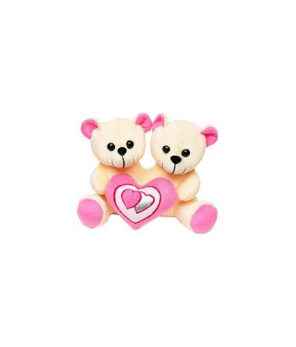 Pink couple With Heart Teddy Bear Soft Toy