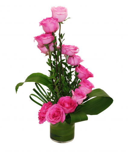 Pink Rose With Vase