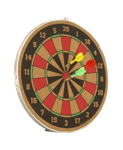 Wood O Plast Dart Board Set 16 inch
