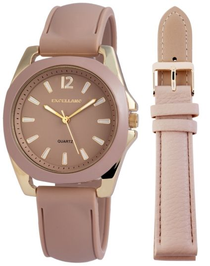 Analogue Watch With Grooved Strap
