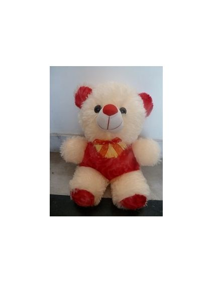 Small Red and white teddy bear (12 - 15 inch)
