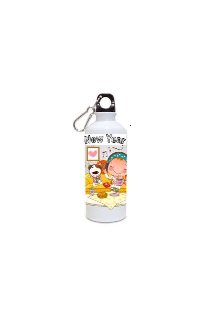 Artful 600ml Happy New Year White Sipper