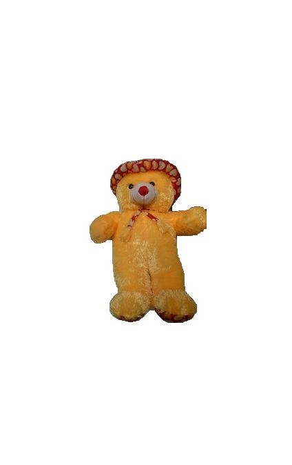 Cute soft Yellow Teddy bear in Cap