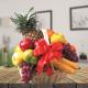 Black forest with fruits basket